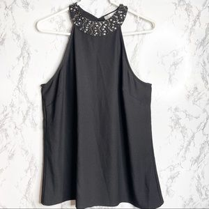  WD•NY Embellished Tank Top Size XL